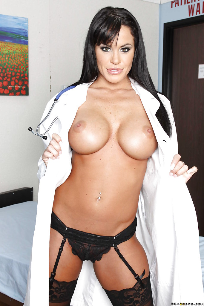 Hot wife Savannah Stern stripping off doctor uniform and posing nude[15P]